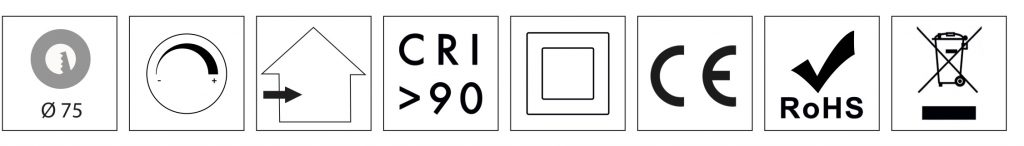 certifications of LUNA CE-rohs-raee-IP20-CRI90