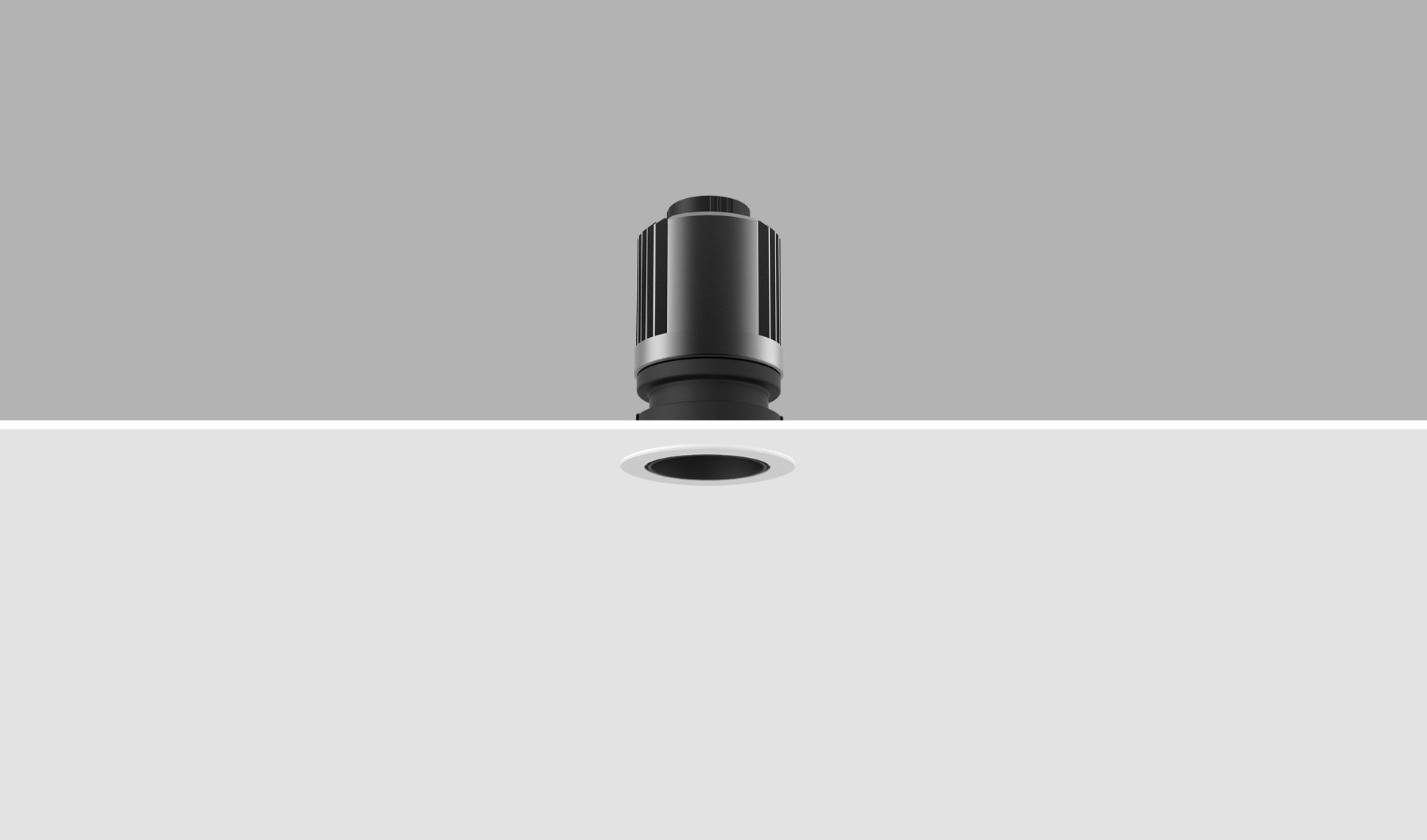 led recessed downlight black inner ring